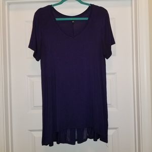 Cable & Gauge Tunic Top Navy Blue